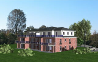Mehrfamilienhaus Schwarzenbek Visualisierung von hinten